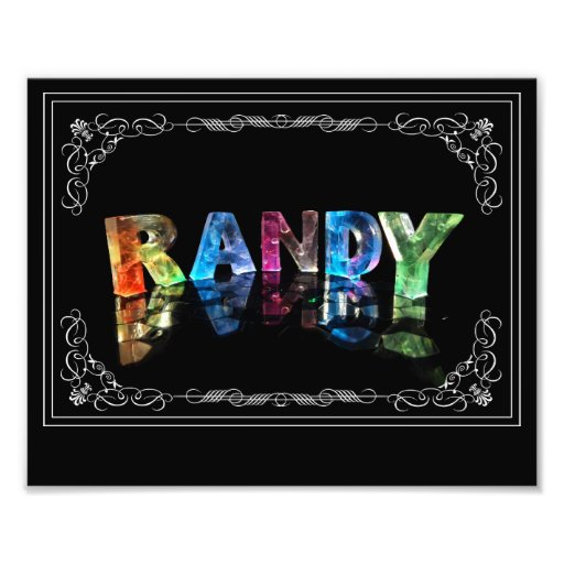 The Name Randy in 3D Lights (Photograph)