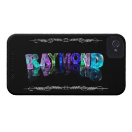 The Name Raymond in 3D Lights (Photograph) iPhone 4 Case
