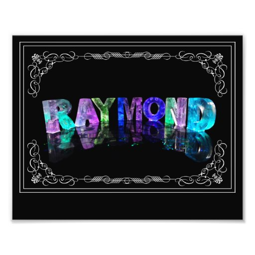 The Name Raymond in 3D Lights (Photograph)