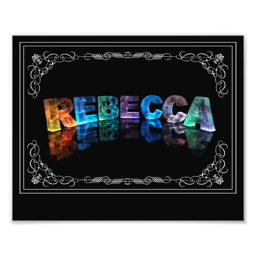 The Name Rebecca in 3D Lights (Photograph)