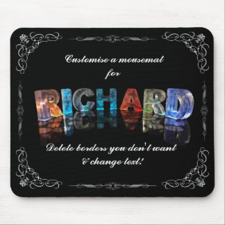 The Name Richard in 3D Lights (Photograph) Mouse Pad