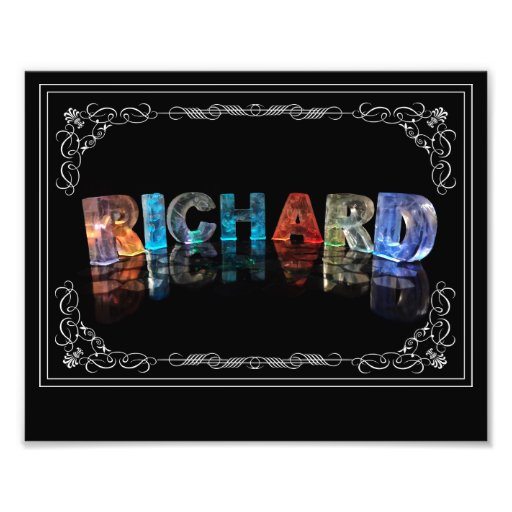 The Name Richard in 3D Lights (Photograph)