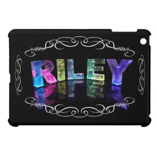 The Name Riley in 3D Lights (Photograph) iPad Mini Covers