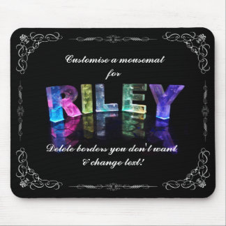 The Name Riley in 3D Lights (Photograph) Mouse Pad