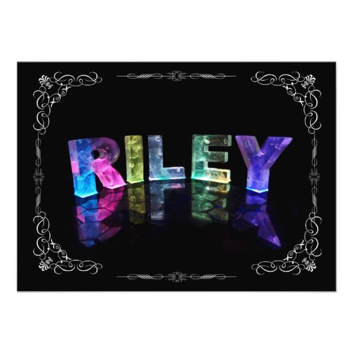 The Name Riley in 3D Lights (Photograph)