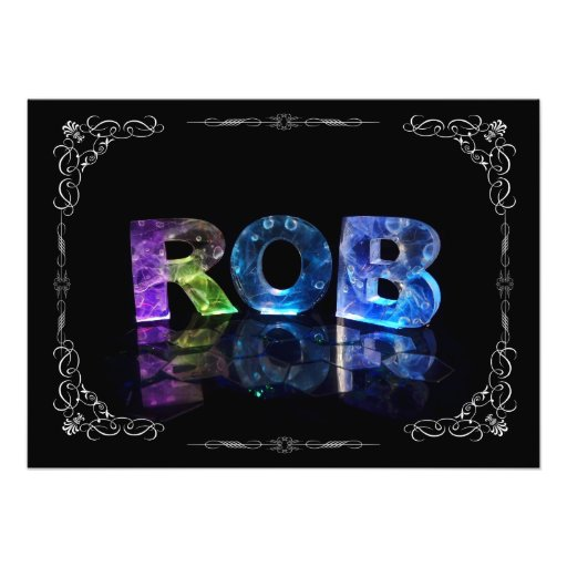 The Name Rob in 3D Lights (Photograph)