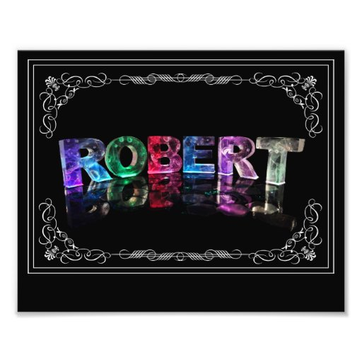 The Name Robert in 3D Lights (Photograph)