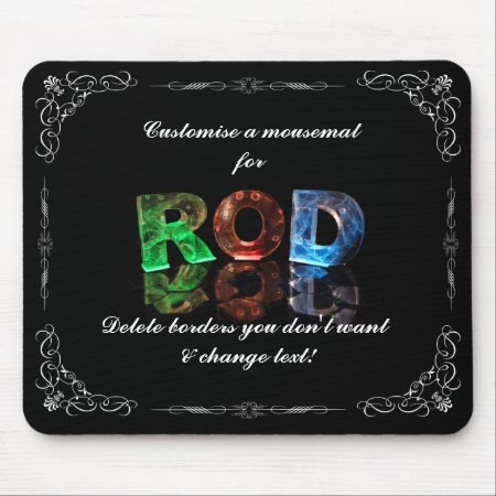 The Name Rod in 3D Lights (Photograph) Mousemats
