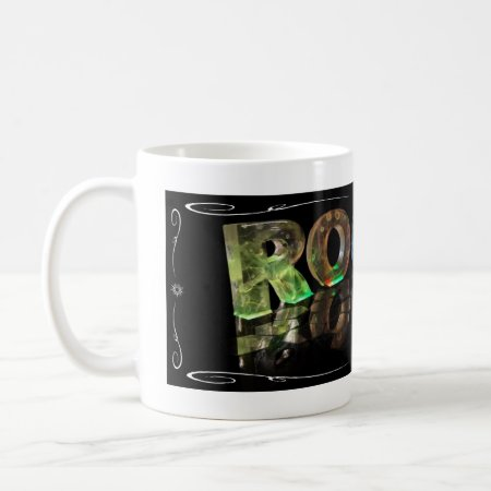 The Name Roger in 3D Lights (Photograph) Coffee Mugs