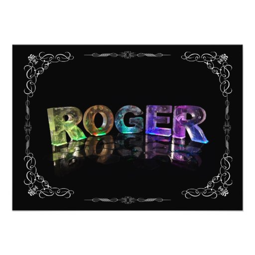 The Name Roger in 3D Lights (Photograph)