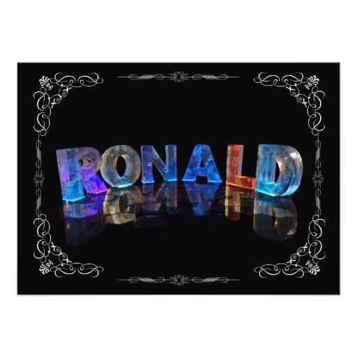 The Name Ronald in 3D Lights (Photograph)