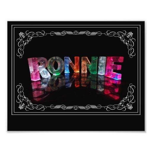 The Name Ronnie in 3D Lights (Photograph)