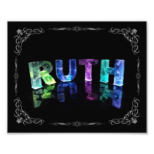 The Name Ruth in 3D Lights (Photograph)