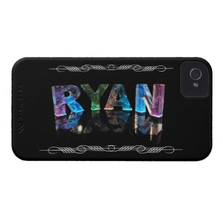 The Name Ryan in 3D Lights (Photograph) iPhone 4 Case