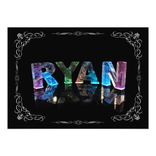 The Name Ryan in 3D Lights (Photograph)