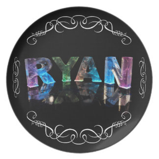 The Name Ryan in 3D Lights (Photograph) Plate