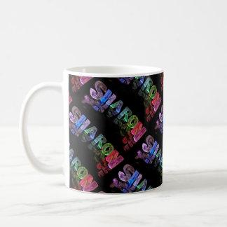 The Name Sharon -  Name in Lights (Photograph) Coffee Mug