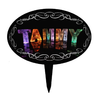 The Name Tammy -  Name in Lights (Photograph) Cake Topper