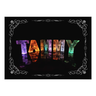 The Name Tammy -  Name in Lights (Photograph) Photo Print