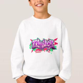 The name Taylor in graffiti-Kids Sweatshirt