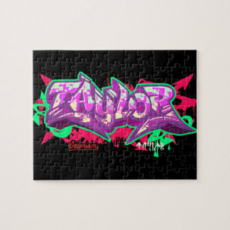 The name Taylor in graffiti-Puzzle Jigsaw Puzzles