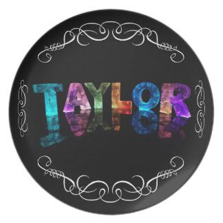 The Name Taylor -  Name in Lights (Photograph) Plate
