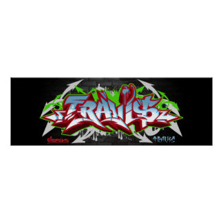 The name Travis in graffiti Poster