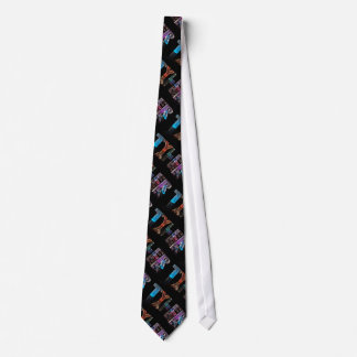 The Name Tyler -  Name in Lights (Photograph) Neck Tie