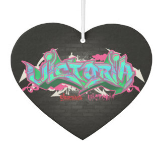 The name Victoria in graffiti Air Freshener