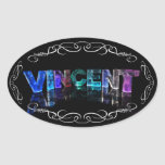 The Name Vincent -  Name in Lights (Photograph) Stickers