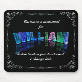 The Name William -  Name in Lights (Photograph) Mouse Pad