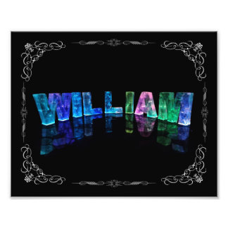 The Name William -  Name in Lights (Photograph) Photo Print
