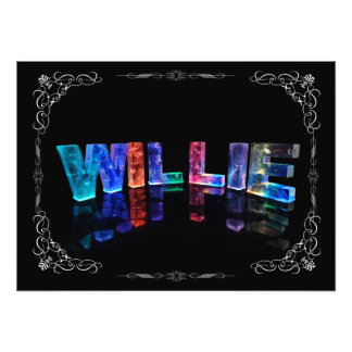 The Name Willie -  Name in Lights (Photograph) Photo Print