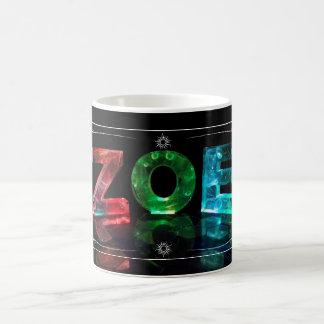 The Name Zoe -  Name in Lights (Photograph) Basic White Mug