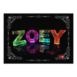The Name Zoey -  Name in Lights (Photograph) Photo Print