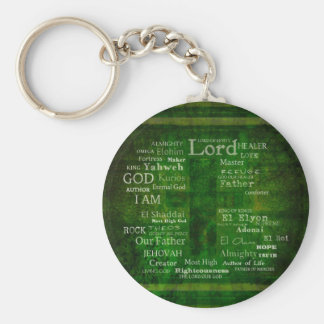 THE NAMES OF GOD listed Key Chains