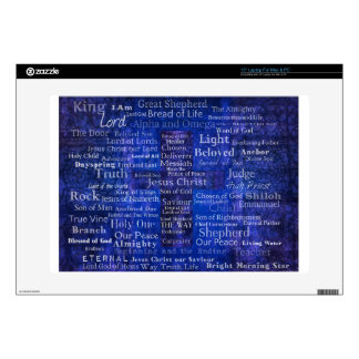 """The Names of Jesus Christ blue cross art Decals For 15"""" Laptops"""