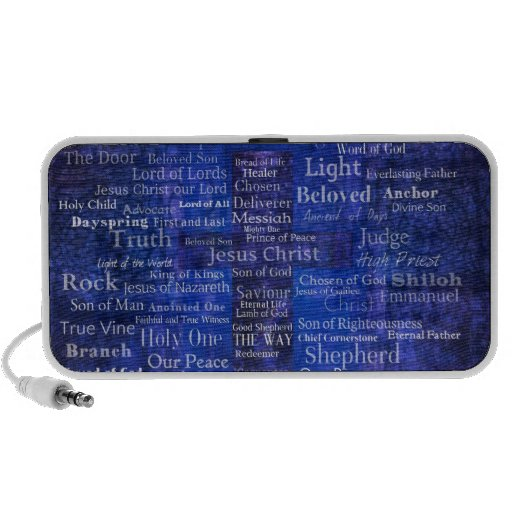 The Names of Jesus Christ blue cross art Mp3 Speakers