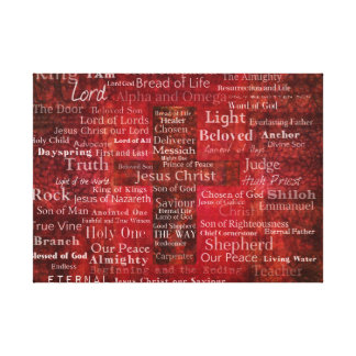 The Names of Jesus Christ From the Bible ART Canvas Print
