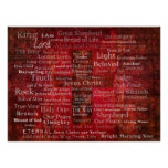 The Names of Jesus Christ From the Bible ART Poster