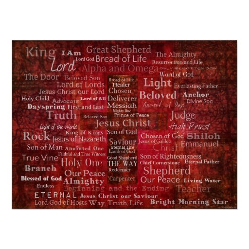 The Names of Jesus Christ From the Bible ART Print