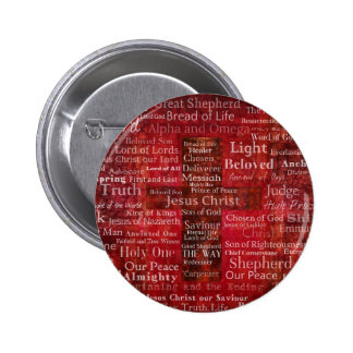 The Names of Jesus Christ From the Bible Pinback Button