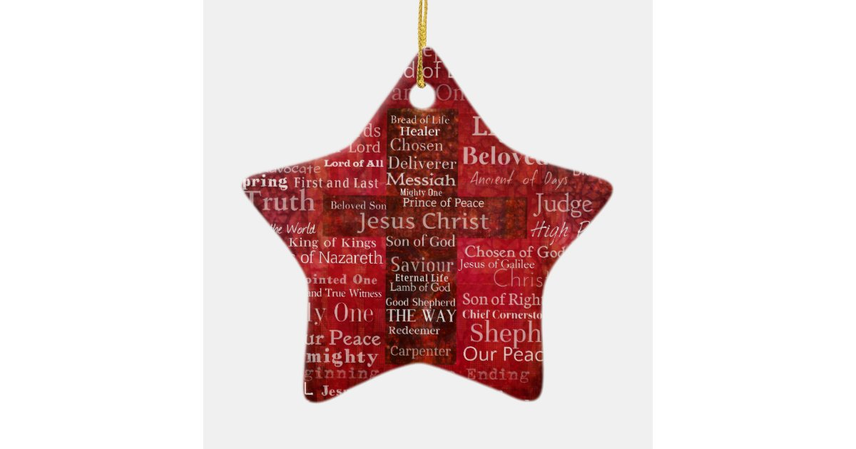The Names of Jesus Christ From the Bible Ceramic Ornament | Zazzle.com