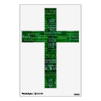 The Names of Jesus Christ From the Bible CROSS Wall Sticker