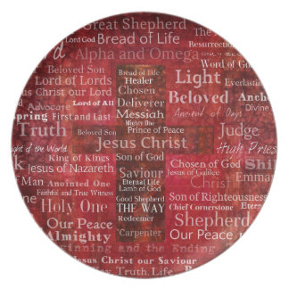 The Names of Jesus Christ From the Bible Dinner Plate