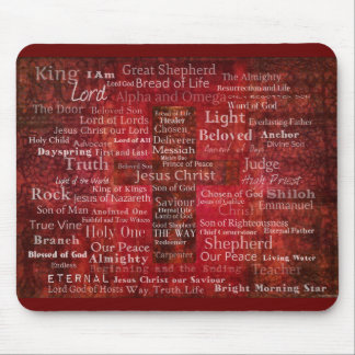 The Names of Jesus Christ From the Bible Mouse Pad