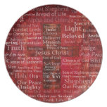 The Names of Jesus Christ From the Bible Party Plates