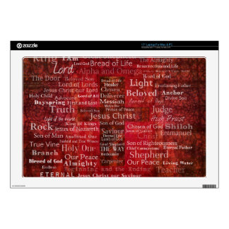 The Names of Jesus Christ From the Bible Skins For Laptops