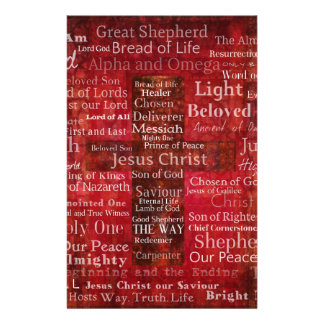 The Names of Jesus Christ From the Bible Stationery