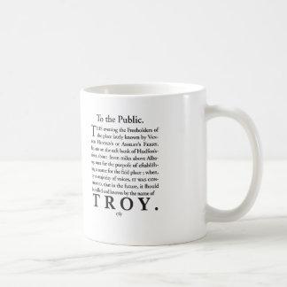 The Naming of Troy, NY 1789 Coffee Mug